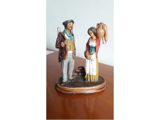 Statua in terracotta di Caltagirone Uomo Donna
