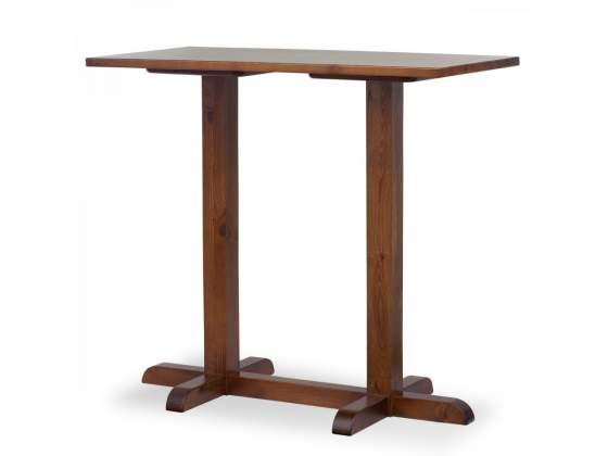 Tavolo alto da bar in legno di pino - 120x80x3 H110 tinta