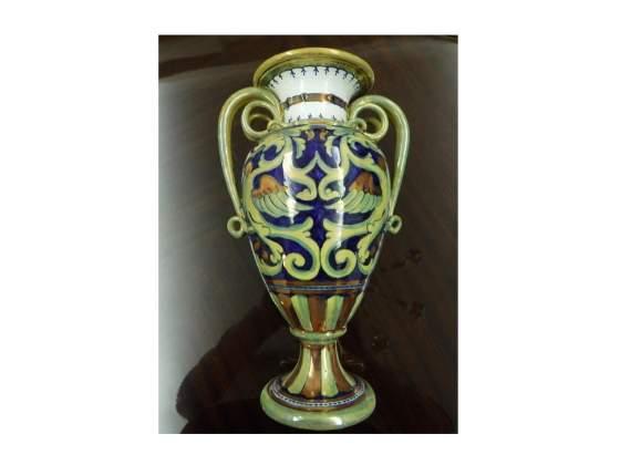 Vaso ceramica dipinta a mano lustri