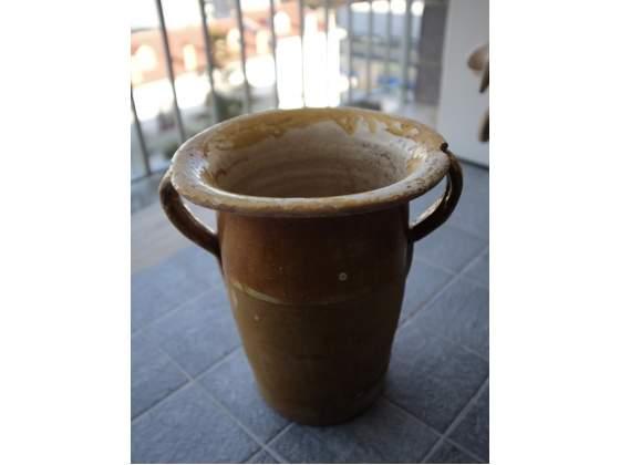 Vaso contenitore in ceramica terracotta anni 50