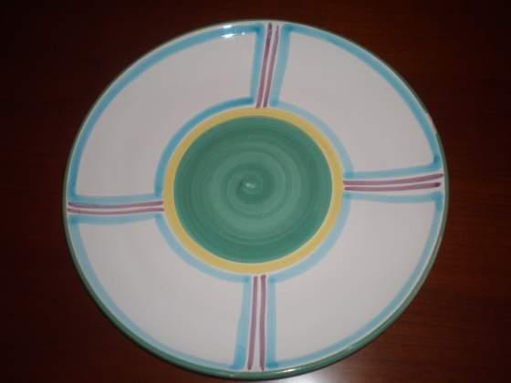 Vassoio da frutta in ceramica decorato a mano