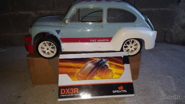 Automodello Fiat 600 Abarth scala 1/5 motore a mis