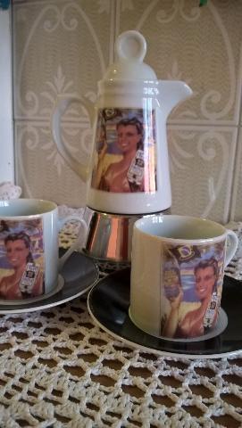 CAFFETTIERA IN PORCELLANA 2 TAZZE