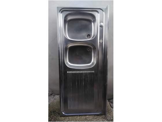 Lavello sx 2 vasche in acciaio inox
