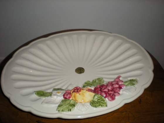 Piatto ovale - centro tavola in ceramica bianca - nuovo