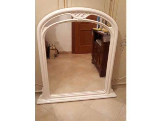 Specchio bianco liberty grande