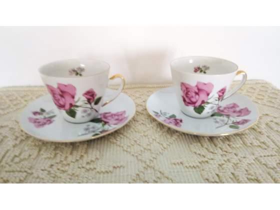 """Tazzine the/caffe' ceramica """" M & Z di Bohemia""""-"""