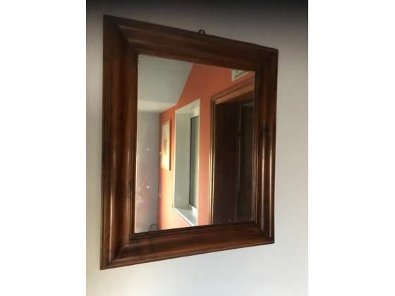 Antico specchio cornice in noce