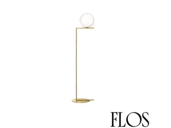 Flos IC F1 Lampada da Terra Ottone e Vetro Soffiato F