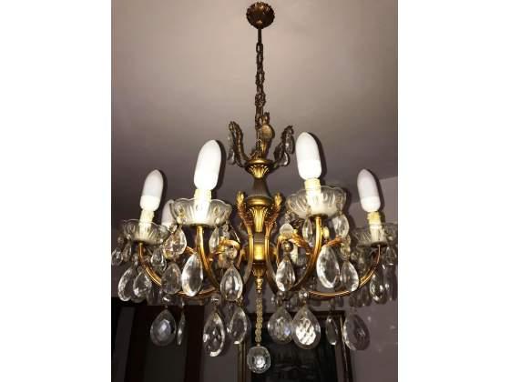 Lampadario salone in ottone
