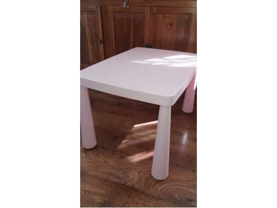 MAMMUT Tavolo per bambini Ikea rosa COME NUOVO