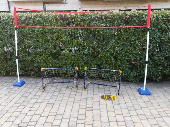 Rete tennis e Porte Calcio x Bambini Giochi
