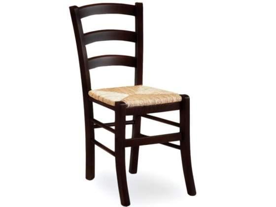 Sedie moderne metallo satinato legno wengè | Posot Class