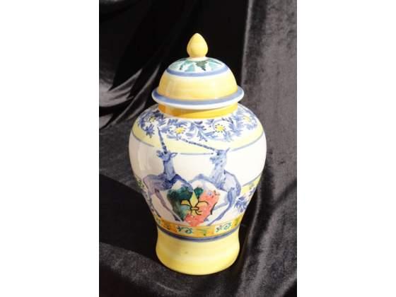 Vaso in ceramica dipinto a mano