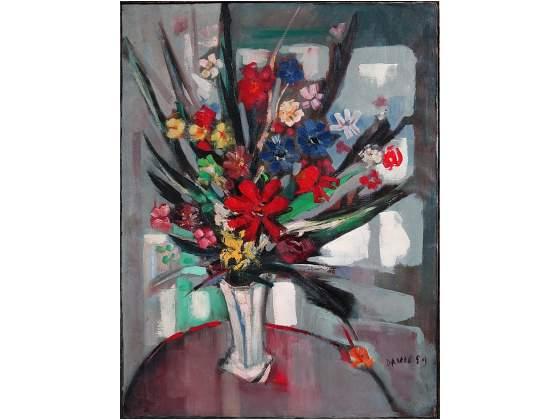 David Angelito L., pittore: olio su tela 80x60, del '59