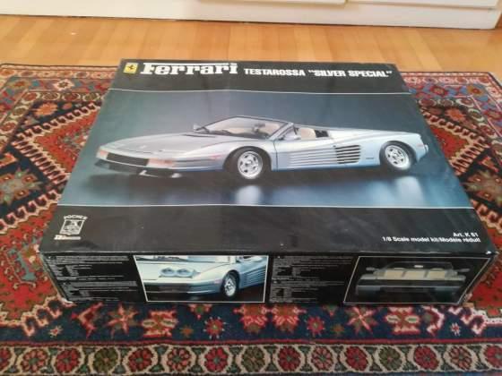 Scatola Pocher Ferrari Testarossa cabrio Agnelli scala 1/18