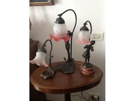 Lampade da scrivania in fusione stile Liberty