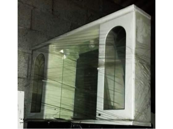 Mobile Mobiletto con specchiera per il bagno a due ante