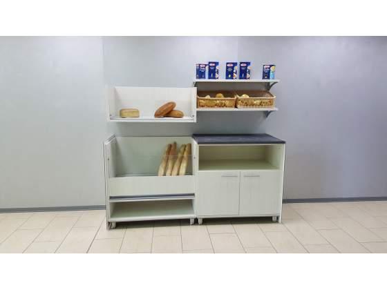 Retrobanco panetteria da 2 mt. con mobile pane e mobile a