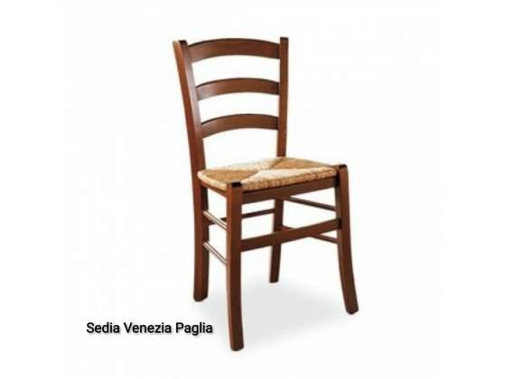 Sedia venezia legno e paglia vari colori