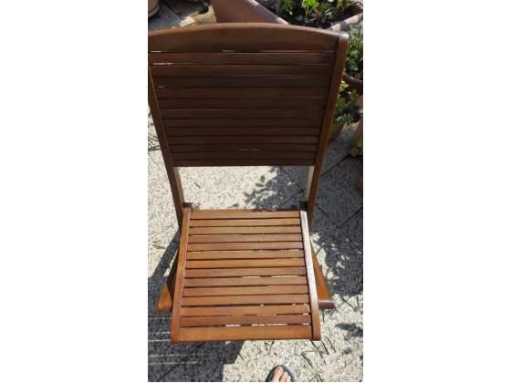 Sedie in legno per giardino/terrazzo