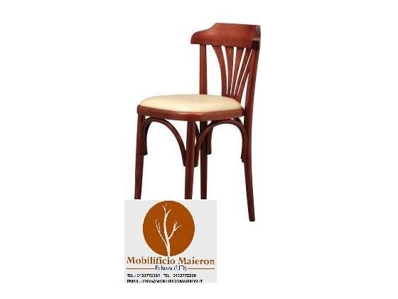 Sedie ristorante in legno Cod /I/Noce seduta imbottita