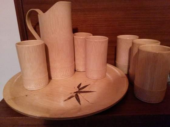 Servizio bibite in bambù vintage