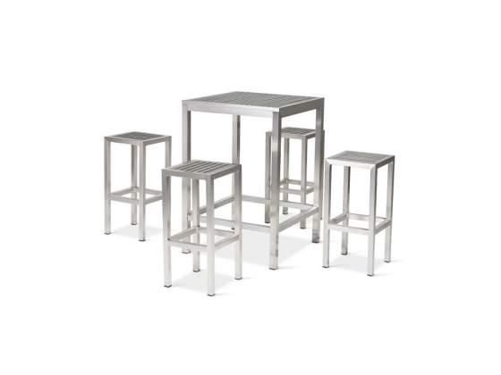 Set tavoli e sgabelli in alluminio cod 003 nuovi affare