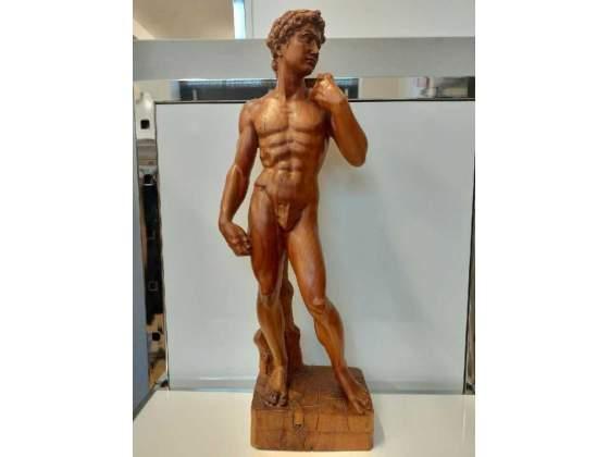 Statua in legno david michelangelo