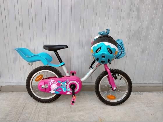 """Bicicletta da Bambina 3-5 anni - Decathlon ruote 14"""" con"""