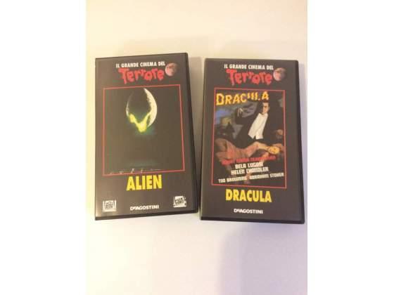 Lotto 2 Vhs Collana Il Grande Cinema Del Terrore: Alien,