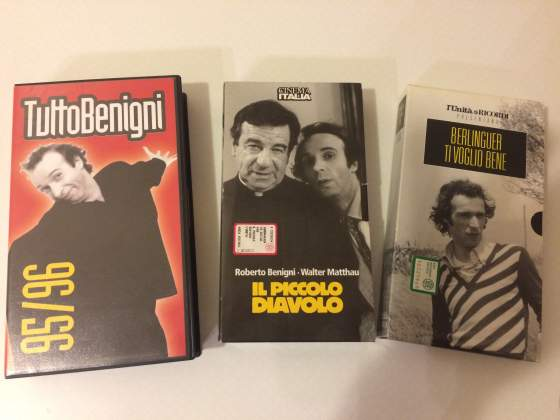 Lotto 3 Vhs Film Roberto Benigni