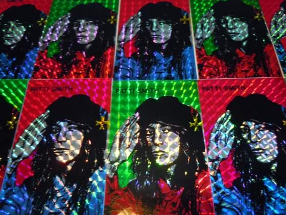 2 Adesivi prismatici PATTI SMITH anni 80 IGGY POP vintage