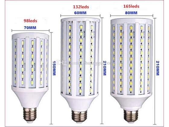 5 pezzi lampada lampadina led 50W E40 bianco caldo