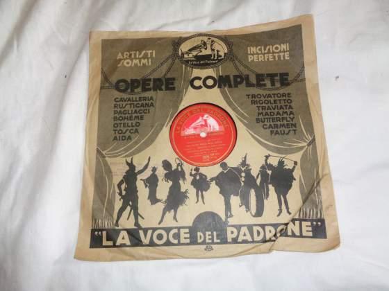 18 dischi grandi per grammofono