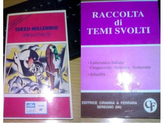 2 volumi di temi svolti.