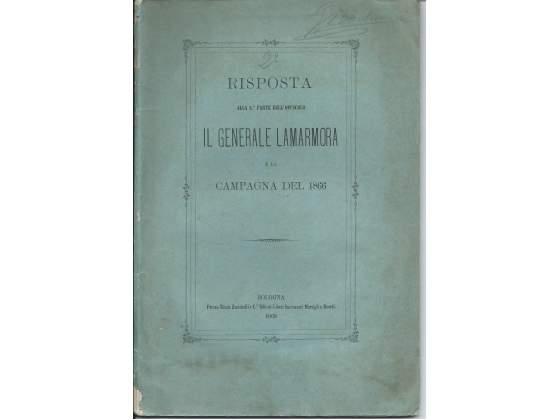 Il Generale Lamarmora e la Campagna del , Risposta