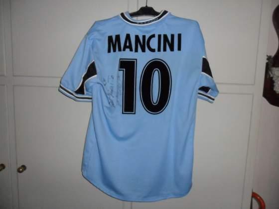 Maglia Lazio match worn&signed Mancini