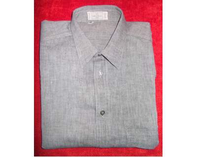 Camicia in cotone VALENTINO toni di grigio manica corta tg.