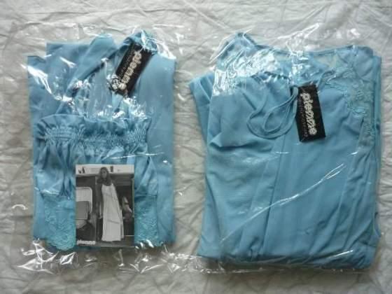 Completo donna Vestaglia + Camicia da notte smanicata