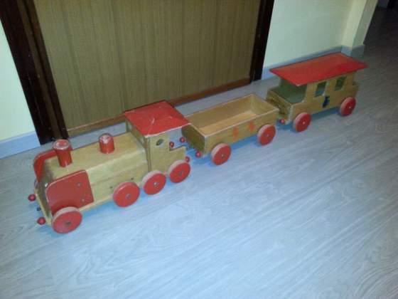 Giocattolo Zax treno in legno