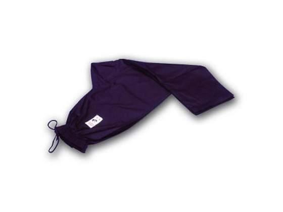 Pantaloni in cotone nero con elastico in vita cm