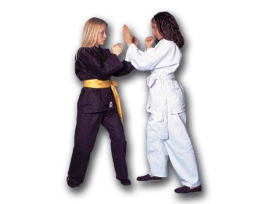 Uniforme kung fu bianco in cotone 100% cm 160