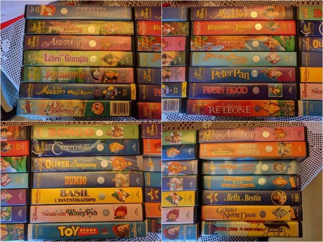 27 CASSETTE ORIGINALI VHS DA COLLEZION WALT DISNEY