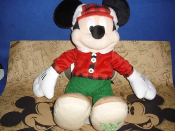 Disney Store Peluche Topolino Minnie Natale