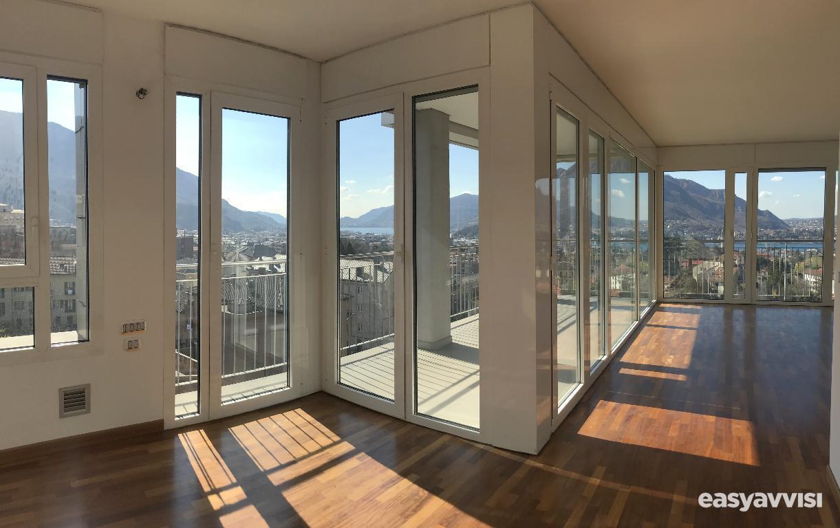 Lecco, zona san giovanni, attico con splendida vista in