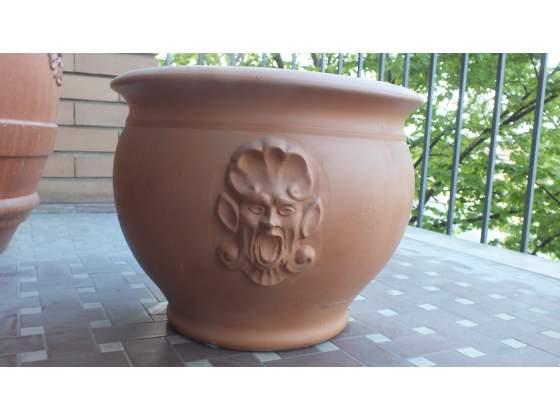 Vaso in terracotta H 30 cm bocca 33 cm base 22 cm