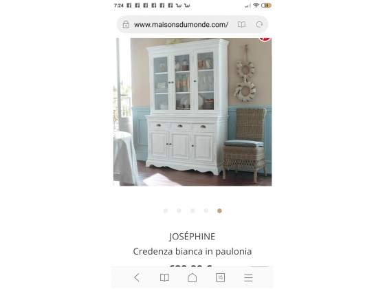 Credenza shabby chic in legno maison du monde