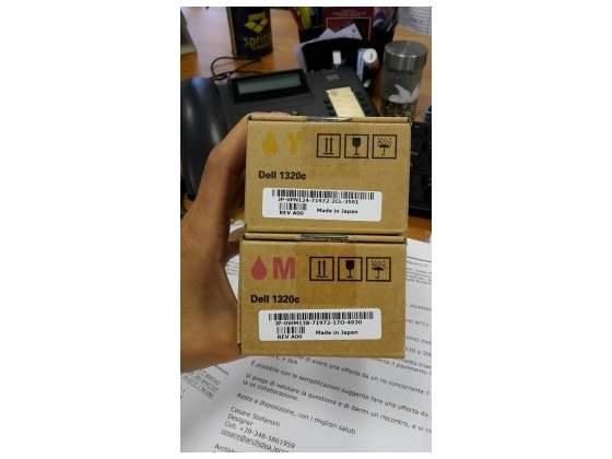 Cartucce giallo e rosso per stampante DELL c