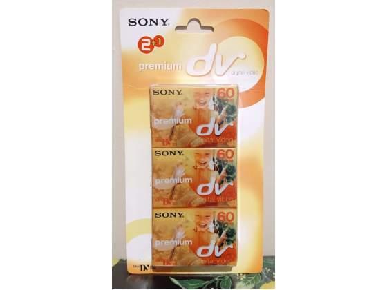 Mini dv sony premium digital video cassette 60 min. nuove